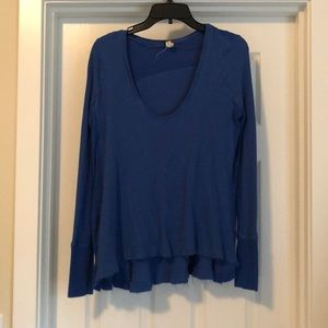 Free People waffle knit scoop neck size xs